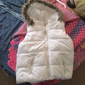 Girls Justice White Puffer Vest